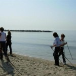 Nordic walking spiaggia a Laigueglia