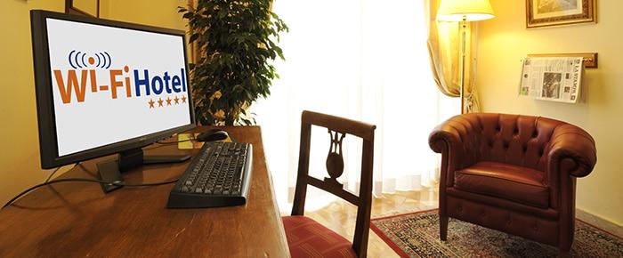 Sala lettura Villa Ida