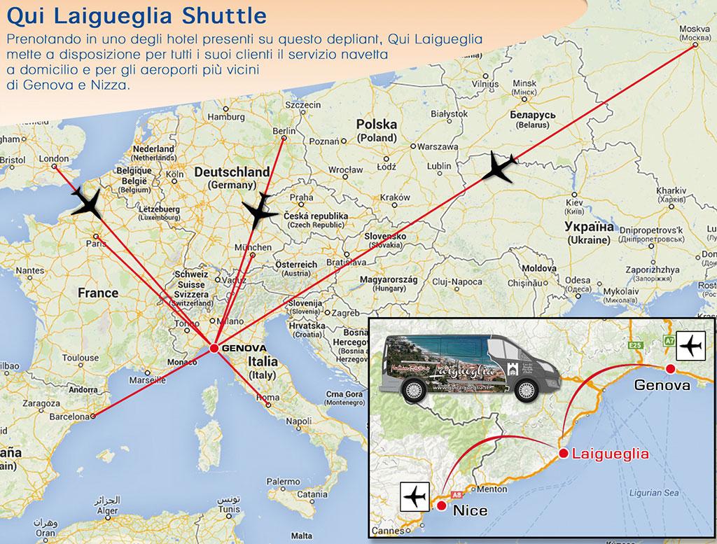 cartina bus Laigueglia